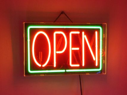 Red / Green Neon open Sign